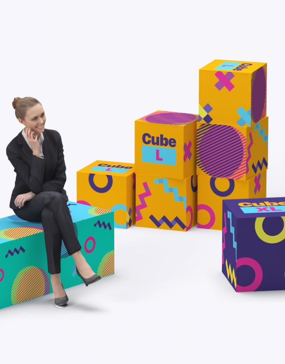 CUBE L  CUBE EN MOUSSE 40X40X40CM